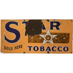 Star Tobacco Porcelaine Sign  (118279)