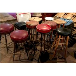 Vintage Saloon Bar Stools - (10)  (108391)