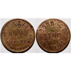 Clifton, Arizona: Gatti & Hill Token  (117972)