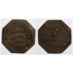 Congress, A.T. Token: Miners Exchange Saloon  (117579)
