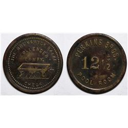 Courtland, AZ Token:  Perkins Bros. Pool Room / Brunswick Balke  (117768)