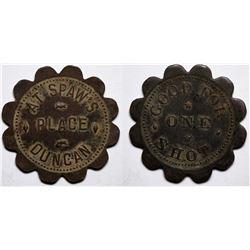 Duncan, AZ: Spaw's Place Token  (117590)