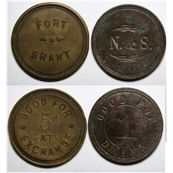 Fort Grant Tokens:  Northern & Stewart  (117595)