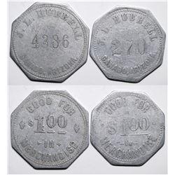 Ganado, AZ: Hubbell Indian Trading Post Tokens  (117756)