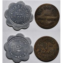 Gold Road, AZ Tokens:  Gold Road Club and Mills & Stoney  (117761)