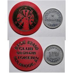 Two Holbrook, AZ Tokens  (117766)