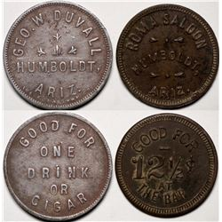 Humboldt, AZ Tokens: Roma Saloon and George W. Duvall   (119174)