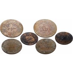 Jerome, AZ: Set of 3 Wigwam Saloon Tokens (119907)