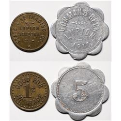 Lupton, AZ: State Line Trading Co. and Gorman & Beck Tokens  (119522)