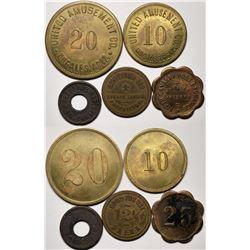 Collection of Five Nogales, AZ GF's Tokens  (119273)