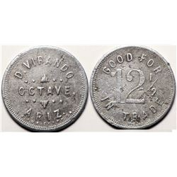 Octave, Ariz.: D. Virando, 12 1/2 Cent Token  (119908)
