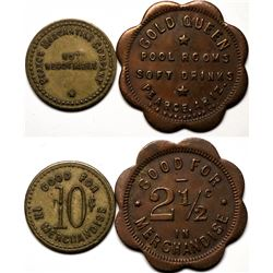 Pearce, AZ: Gold Queen Pool Room and Pearce Merc. Tokens (119305)