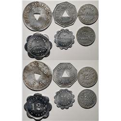 Six Aluminum Phoenix GF Tokens  (119302)