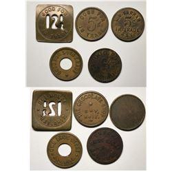 Ray, AZ: Five Merchant GF Tokens  (119311)