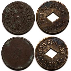 Two Tombstone, AZ Saloon Tokens: Prospector and Silver Dollar  (119272)