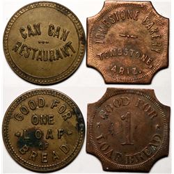 Tombstone, AZ: Bakery & Can-Can Restaurant Tokens      (119172)