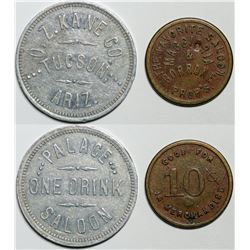 Tucson, AZ: Two Saloon Tokens (119534)
