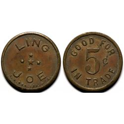 Winkelman, AZ: Ling Joe,  Chinese Merchant token  (117966)