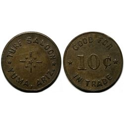 Yuma, AZ: Turf Saloon Post War Token  (119950)