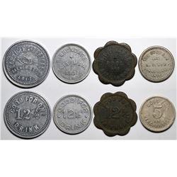 Poland, Kingman, Sunnyslope, and Silver Bell Arizona Tokens  (117577)