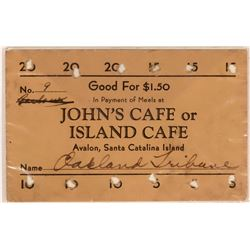 Island Cafe Good For Coupon  (119146)