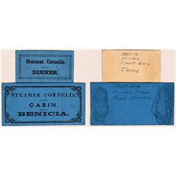 Steamer Cornelia Paper Tokens  (119662)
