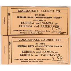 Humboldt Bay Coggeshall Launch Co. Ticket Books  (119129)
