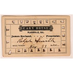 Cary House Meal Ticket  (119666)