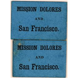 Mission Dolores and San Francisco Early Transportation Tokens  (119672)
