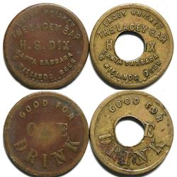 Lacey Bar/ Wieland's Beer Tokens  (119068)