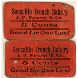 Sausalito French Bakery Tokens  (119679)