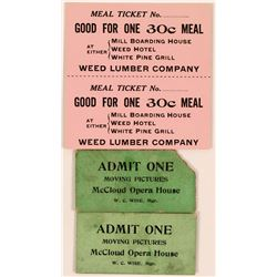 Weed Lumber Company Good For Meal Tickets  (119726)