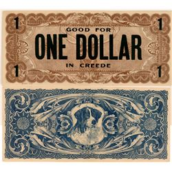Good For One Dollar in Creede  (119736)