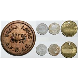 Butte, MT Tokens (4)  (86404)