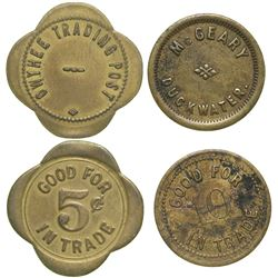 Two Eastern Nevada Tokens  (90384)