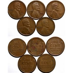 Key Date Lincoln Pennies  (117626)