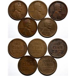 Key Date Lincoln Pennies  (117629)