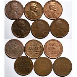 Semi Key Date Lincoln Cents  (117634)