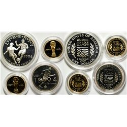 1994 Proof World Cup Silver-Gold Commemorative Coin Sets (2)  (75540)