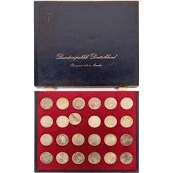 German 1972 Olympics 10 Mark Coin Set  (116329)