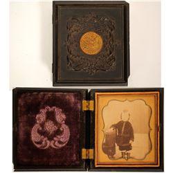 Gold Rush Daguerreotype in Coined Case  (100014)