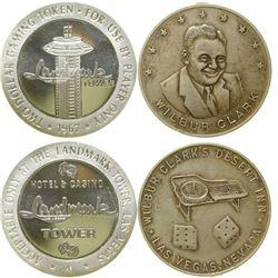 Wilbur Clark / Landmark Tower Silver Rounds  (89252)
