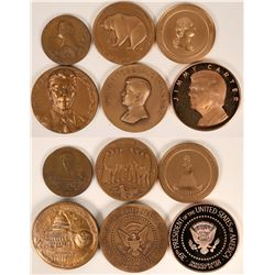 Large Presidental and Other Mint Medals (Lot of 6)  (120574)