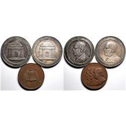 Democratic National Convention and McKinley Memorials Medals (3 pieces)  (120571)