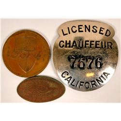 Ford Automotive Medals and Chauffeur Badge  (119077)