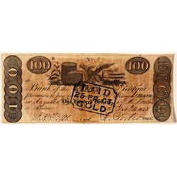 $100, Bank of the State of Georgia  (78454)