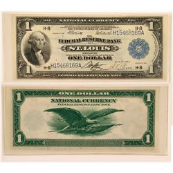 $1 Federal Reserve Bank Note, Series of 1918, St. Louis, Missouri, Uncirculated  (111986)