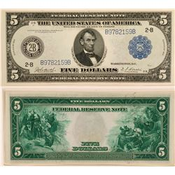 $5 Federal Reserve Note, Blue Seal, Series of 1914, Uncirculated  (111985)