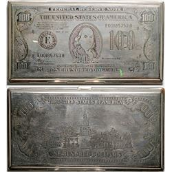 $100 Bill Metal Money Case  (119064)