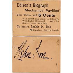 Edison's Biograph Token  (119117)